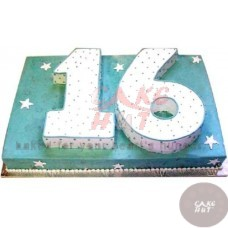 Double Digit Number shape Cake