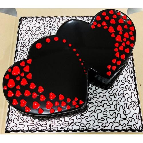 Double Heart Birthday Cakes Cochin Send Cake To Cochin Ernakulam