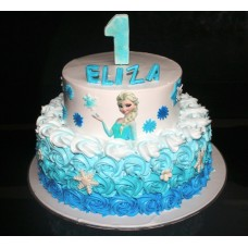 Two Tier  Frozen Cake